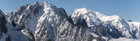 HiRes images of peaks in the Mont Blanc region